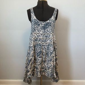 Free People Intimately Voile and Lace Trapeze Slip